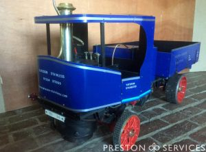 3 Inch Scale CLAYTON Steam Wagon