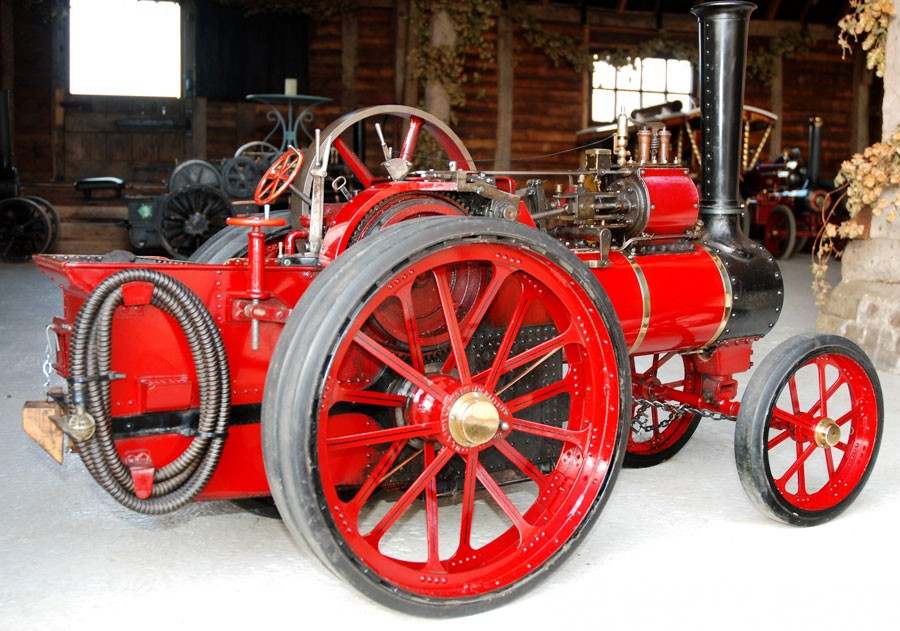 In Burrell Te Plumred on Railway Traction Engine