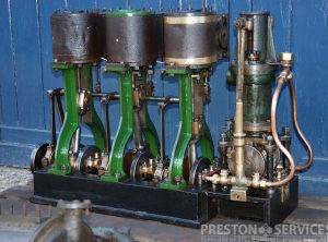 3 Cylinder Steam Launch Engine + Condenser and Feed Pumps