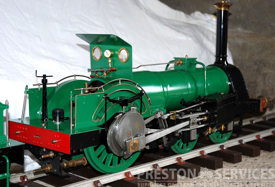 5 U0026quot  Gauge Crampton 4-2-0 Steam Locomotive