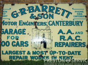 BARRETT & Son, Canterbury Enamel Sign