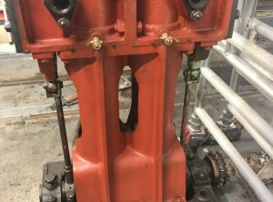 Steam Engine Barring Engine, Duplex Cylinders 5″ x 8″