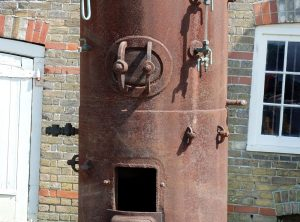 Vertical Cross-Tube Steam Boiler, 10 Ft High