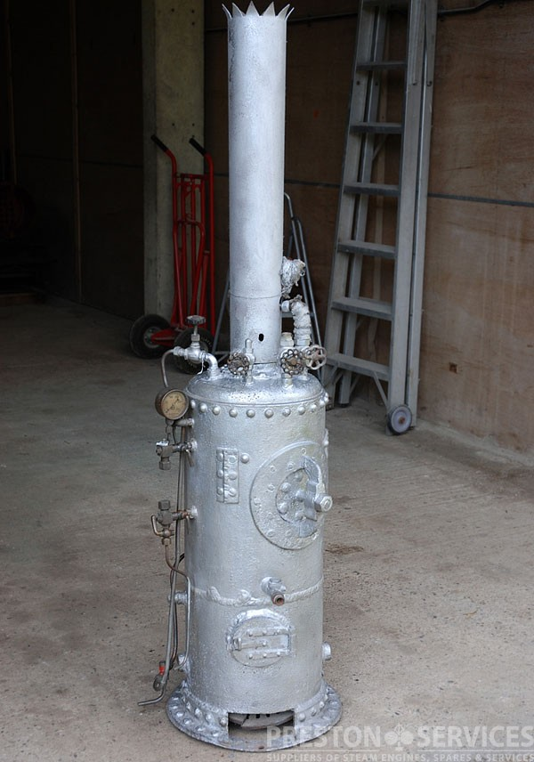 Vertical Cross Tube Steam Boiler 5 Ft High Preston Services