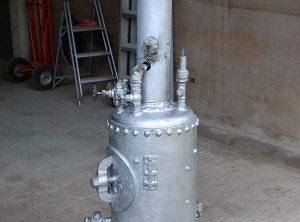 Vertical Cross-Tube Steam Boiler, 5 Ft High