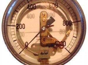 BUDENBURG 6″ Transparent Pressure Gauge