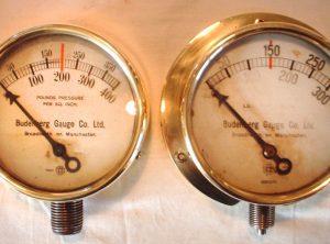 BUDENBURG 4″ Pressure Gauges, Pair