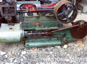 E.S. HINDLEY Single Cylinder Horizontal Workshop Engine 4″ x 7″ Cylinder