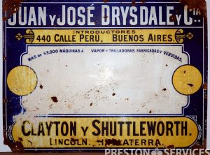 CLAYTON & SHUTTLEWORTH Enamel Sign