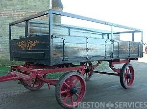 EAGLE Traction Engine Trailer, Dropside Body
