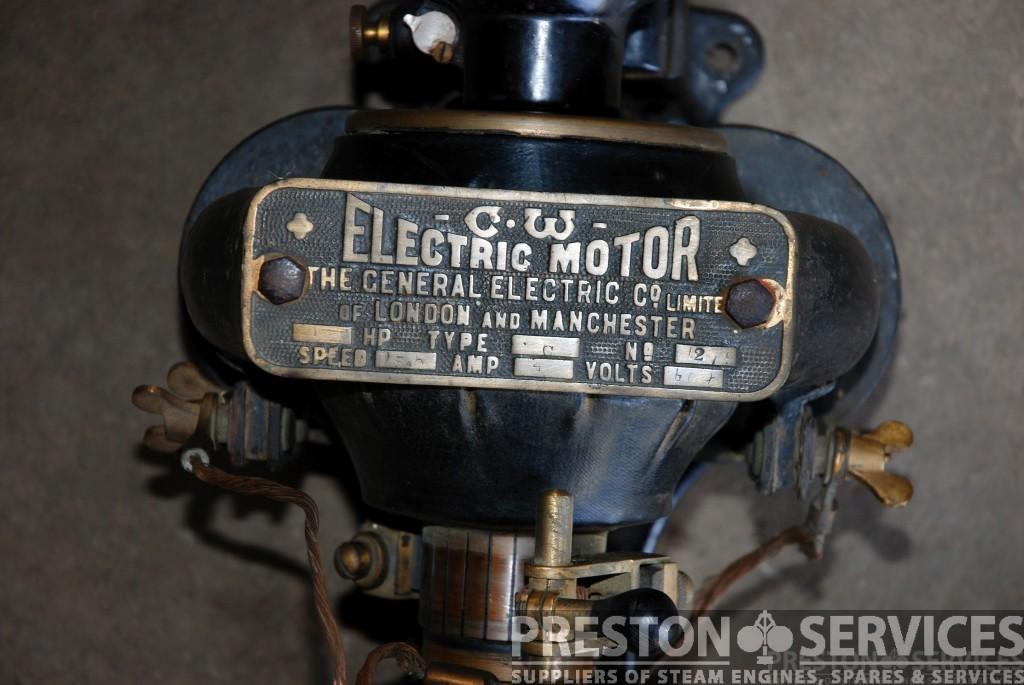 General electric company vintage motor dynamo preston for Antique electric motor repair