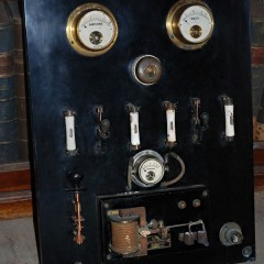 1920′s VINTAGE ELECTRICAL GAUGE BOARD