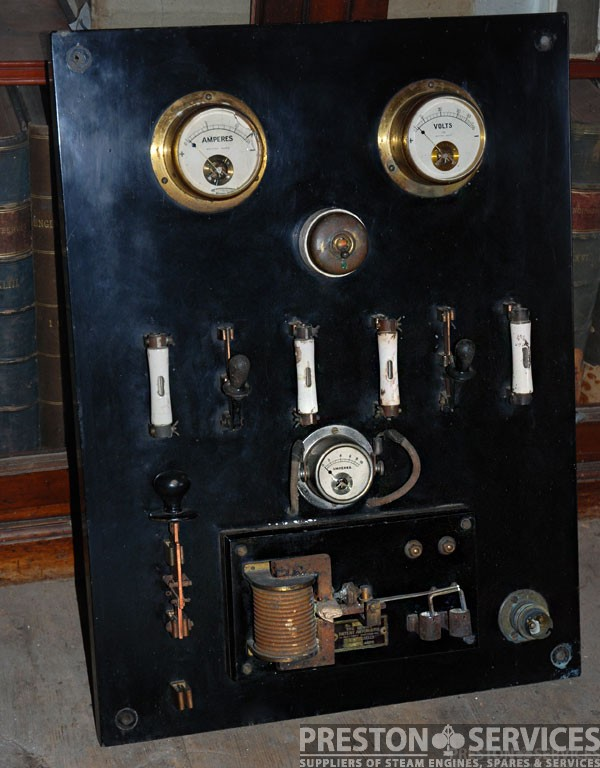 1920 S Vintage Electrical Gauge Board Preston Services