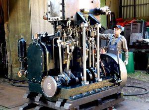GEBRÜDER SACHSENBERG 1897 Compound Marine Engine