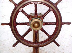 HASTIE & Co. Ships Wheel & Pedestal