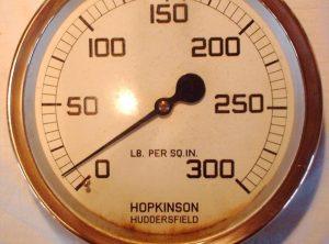 HOPKINSON 10.5 Diameter Pressure Gauge