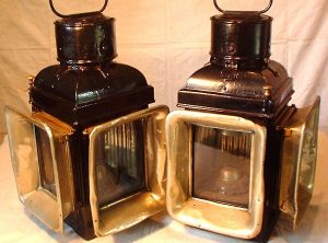 "ELI GRIFFITHS ""METEOR"" Road Locomotive Lamps, Pair"