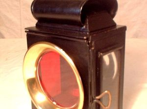 'DIETZ' STEAM WAGON LAMPS, Pair