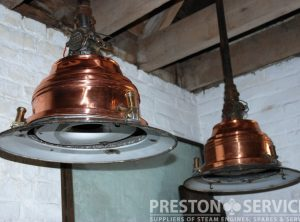 Engine Room Electric Lamps, Pair
