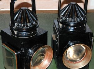 FOWLER Patent Traction Engine / Roller Lamps, Pair