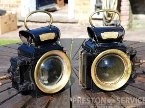 OLDFIELD 'DEPENDENCE' Traction Engine Lamps, Pair