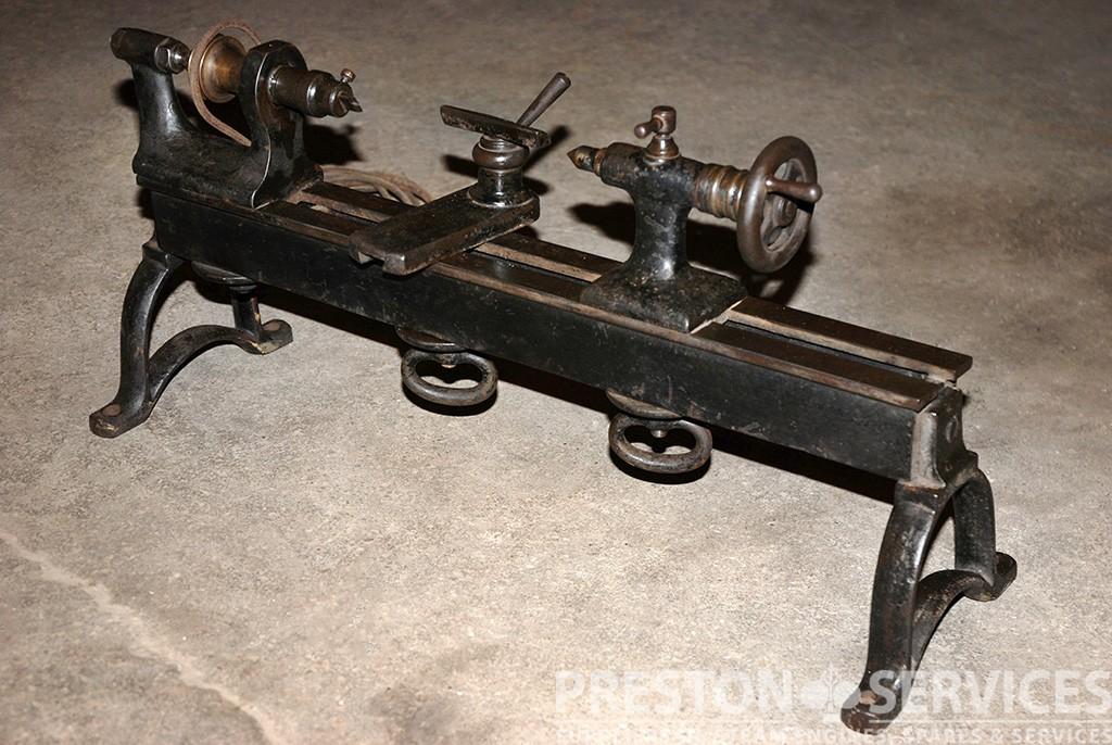19th Century Clock Makers Lathe Preston Services