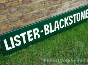 LISTER BLACKSTONE Wooden Sign