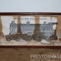 SIX-COUPLED BOGIE EXPRESS LOCOMOTIVE 12 1/2″ x 20″ Framed Print
