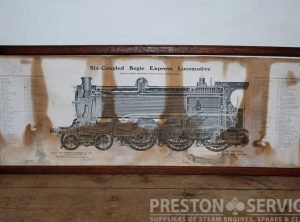 "SIX-COUPLED BOGIE EXPRESS LOCOMOTIVE 12½"" x 20″ Framed Print"