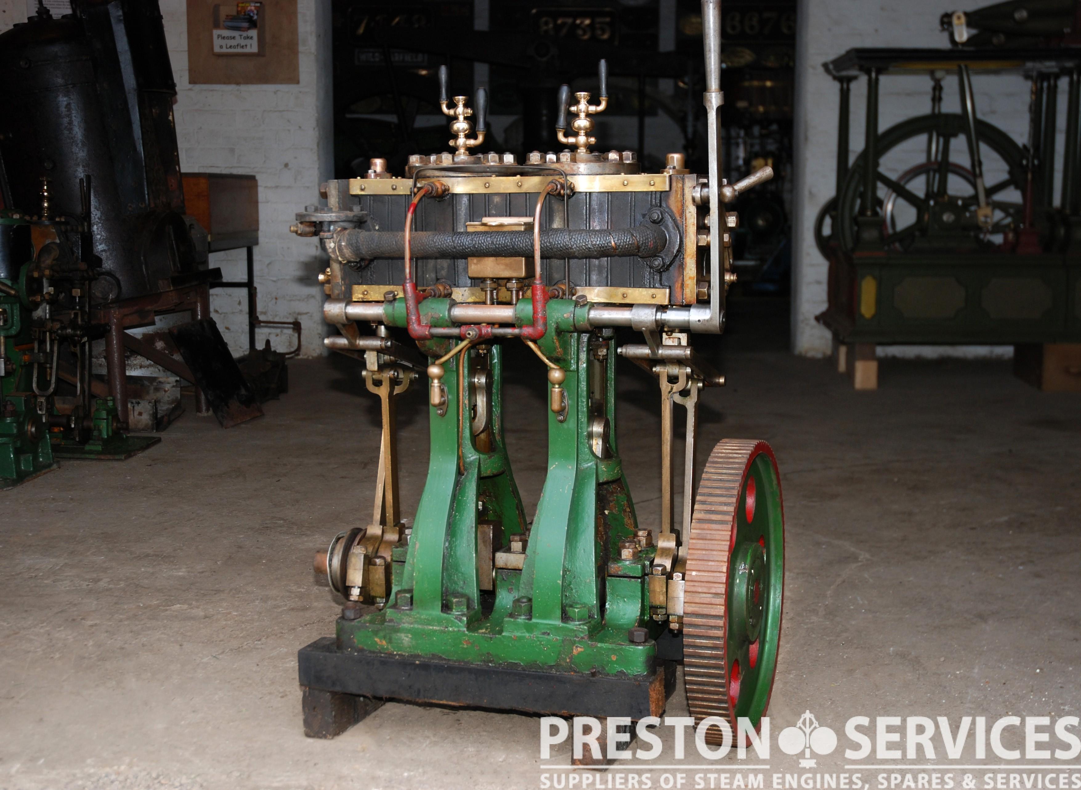 """Single Cylinder Steam Launch Engine 3½"""" x 2"""" PRESTON SERVICES"""