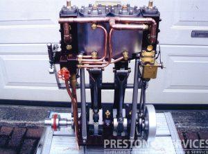 New Built TWIN CYLINDER Marine Steam Engine