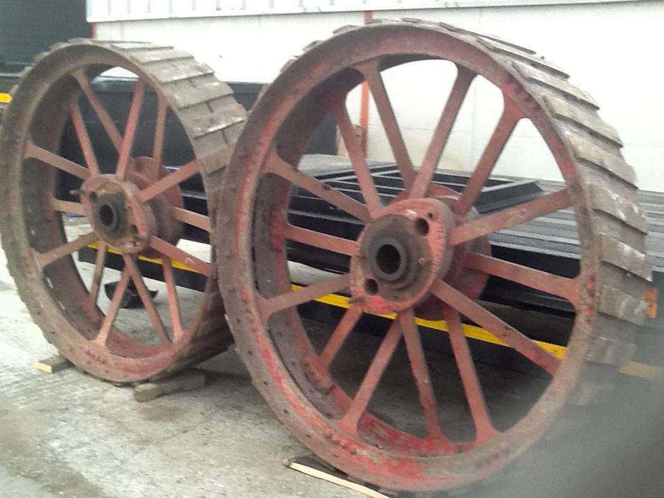 Mclaren Traction Engine Rear Wheels Preston Services