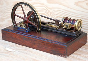 19th Century Model Single Cylinder Horizontal Mill Engine