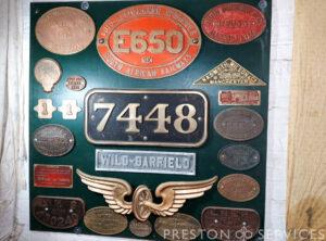 Original Steam Engine Name Plates (Various)