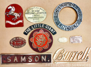 Original Steam Engine Name Plates (Various)