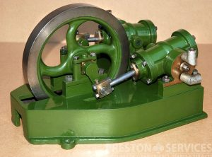 OSCILLATING Twin Cylinder Horizontal Workshop Engine 2″ x 5″ Cylinder