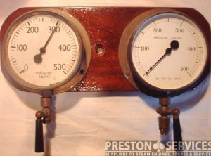 Pressure Gauges, Pair 0-500 psi