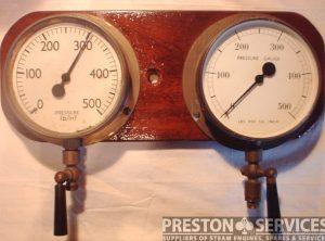 Pressure Gauges, Pair 0-500 psi