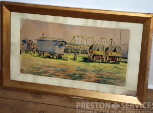FAIRGROUND SCENE Framed Painting