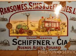 RANSOMES, SIMS & JEFFERIES Enamel Advertising Sign