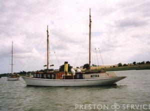 """Steam Yacht """"MYRA"""""""