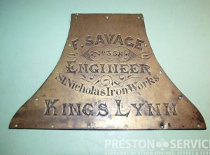 SAVAGE Original Builders Plate