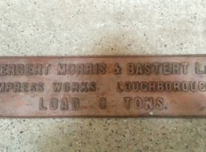 HERBERT MORRIS & BASTERT Cast Iron Sign