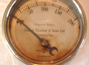GEORGE THURLOW 4″ Pressure Gauge