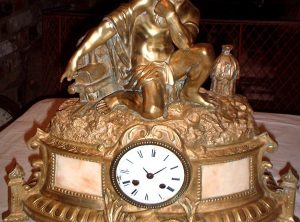 Steam Power Mantle Clock, French