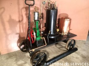 Trolley Mounted Organ Engine & Boiler Plant