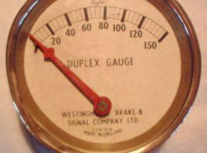 WESTINGHOUSE 4″ Duplex Gauge