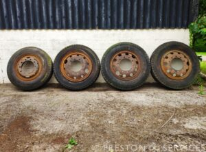 Selection of Pre-War Lorry Wheels and Tyres