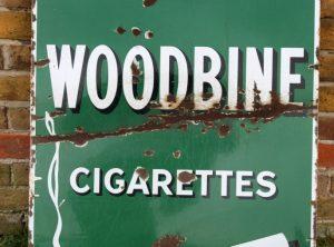 WILLS's WOODBINES Enamel Sign